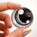 Purple and Teal Anime Glass Doll Eyes with Shines