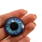 Purple and Teal Clockface Steampunk Glass Eye