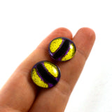 16mm Purple and Yellow Stylized Octopus Glass Eyes