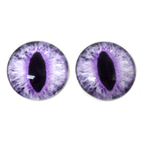 Light Purple Cat or Dragon Glass Eyes