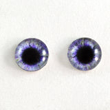 Purple Fantasy Glass Eyes with Yellow