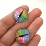 Rainbow Dragon Glass Eyes