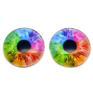 Rainbow Human Fantasy Glass Eyes