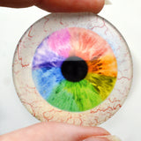 Rainbow Human Glass Eye with Whites