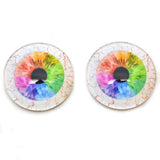 Rainbow Human Glass Eyes with Whites for Dolls