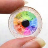Rainbow Human Glass Eyes with Whites for Taxidermy
