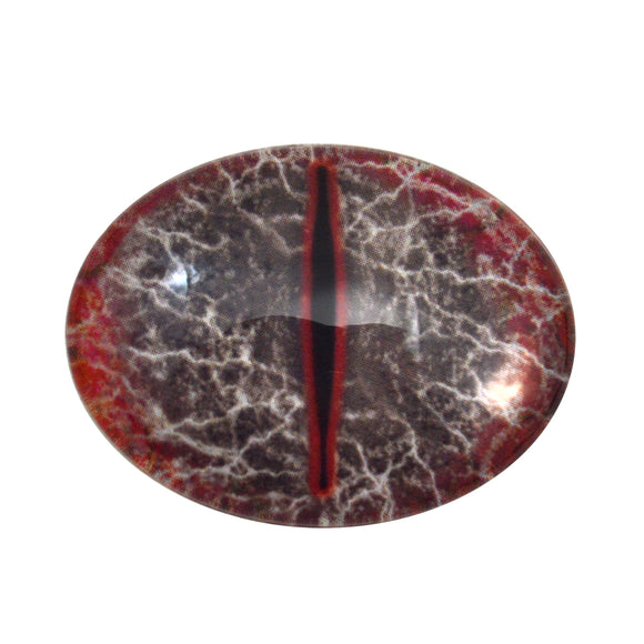 Red and Black Dragon Oval Glass Eyes