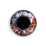 Red and Black Fantasy Glass Eye