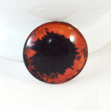 Red and Black Vampire Scary Glass Eye