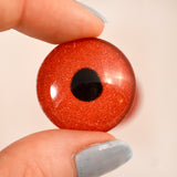 Red Glitter Sparkling Glass Eye