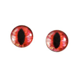 Red Orange Dragon or Cat Glass Eyes
