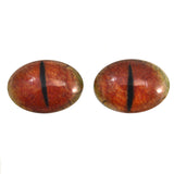 Red Oval Dragon Glass Eyes