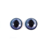 Siamese Cat Glass Eyes in Dark Blue