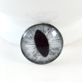 Silver Gray Cat Glass Eye