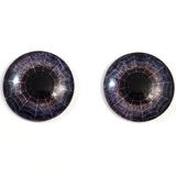 Spiderweb Dark Purple Halloween Decor Glass Eyes