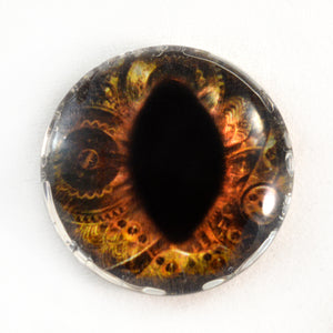 Steampunk Brown Dragon or Cat Glass Eye
