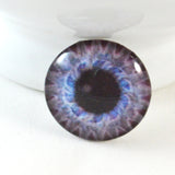 Steampunk Gear Glass Eye in Light Blue and Purple
