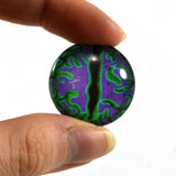 Swirling Green and Purple Dragon Glass Eye