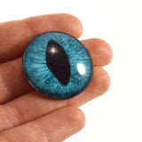 25mm Teal Cat Glass Eye