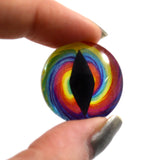 tie dye dragon glass eye