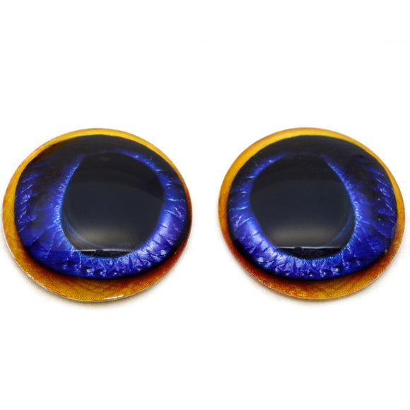 Blue Toucan Bird Glass Eyes