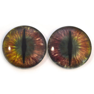 Two-Toned Holographic Color Changing Dragon Glass Eyes