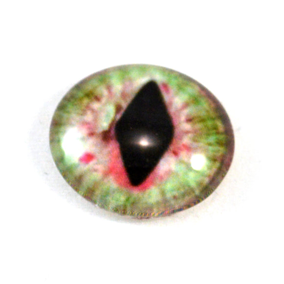 Red and Green Dragon or Cat Glass Eye