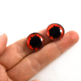 16mm Red and Black Vampire Scary Glass Eyes