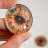 Vintage Clock Animated Glass Eyes
