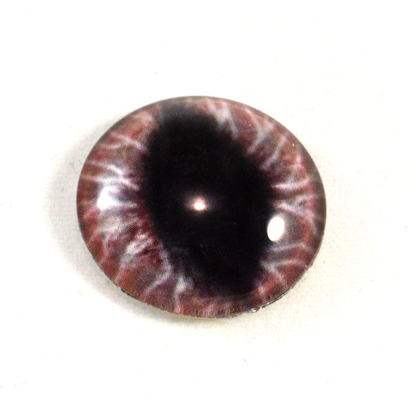 Wide Red Dragon Glass Eye