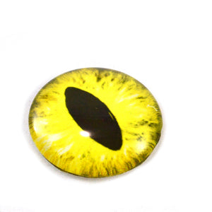 Yellow Dragon or Cat Glass Eye