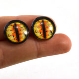 16mm Yellow and Orange Dragon Glass Eyes