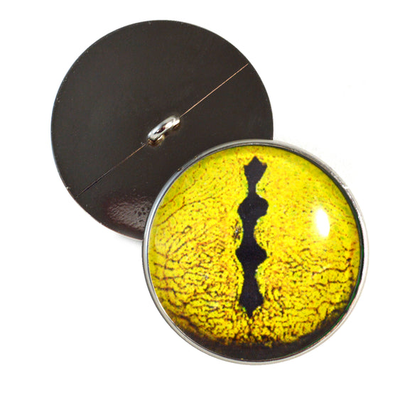Sew On Buttons Yellow Snake Glass Eyes