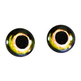 Yellow and Green Fish Glass Eyes