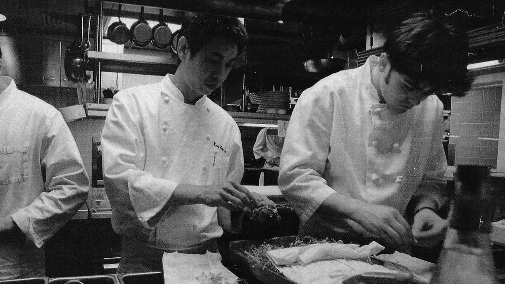 Chef Torsten & Wang Kay Fung Using Microgreens 1996