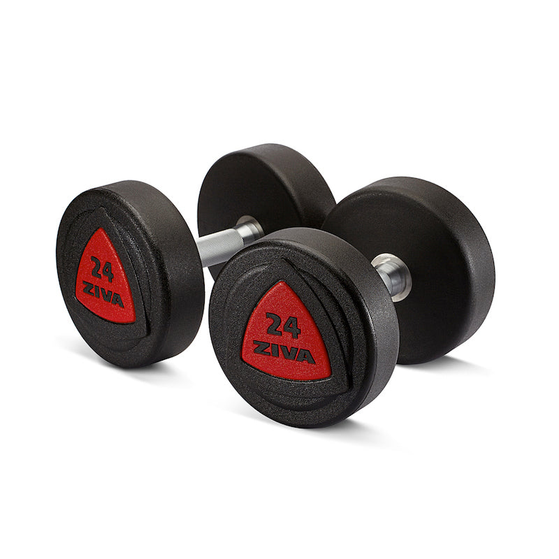 Powerblock Metal Vs Urethane: ZVO Urethane Dumbbell 42-50kg Set Red