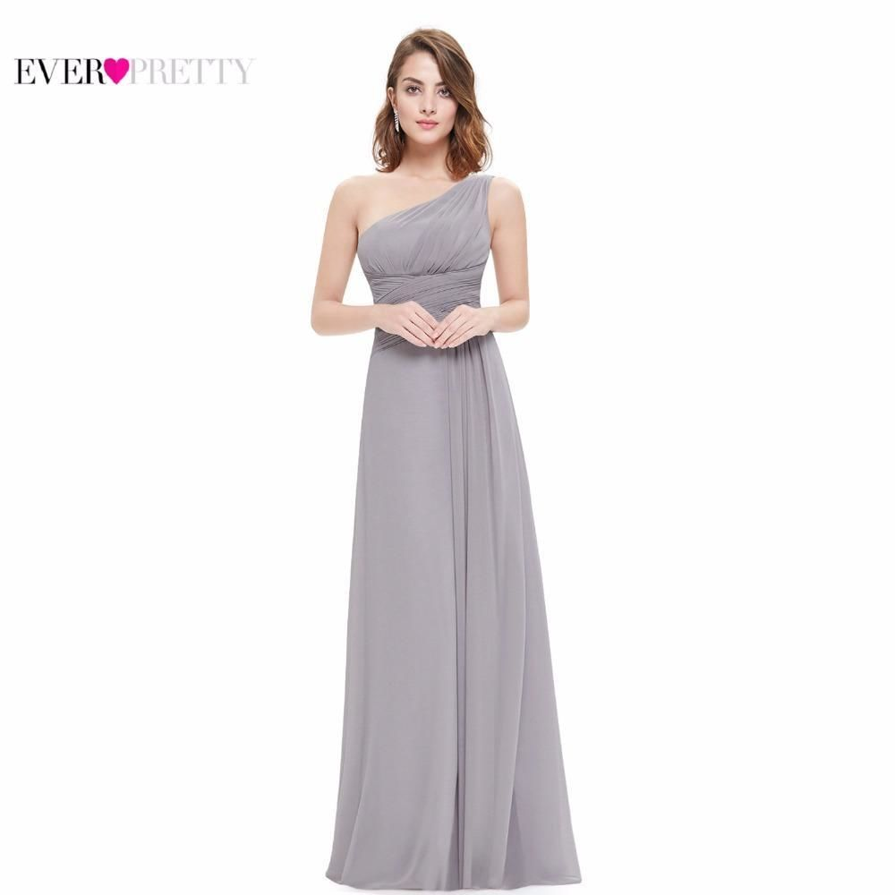 Chiffon Evening Dresses Ever Pretty Ep09905 Elegant One Shoulder A-Line Vestidos Formal Party