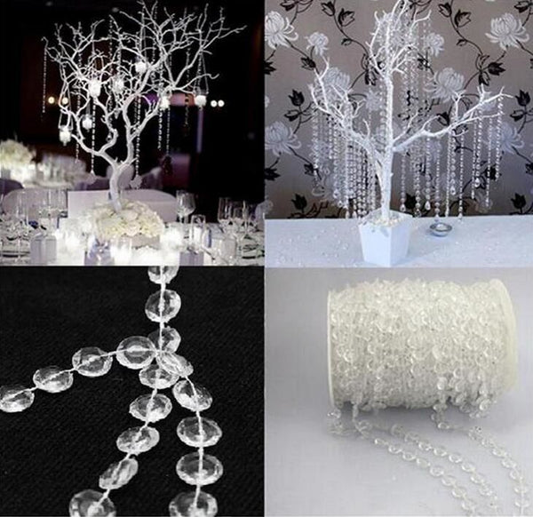 Crystal clear bead string strands for garland chandelier wedding party crystal clear bead string strands for garland chandelier wedding party table centerpieces decoration diy aloadofball Images