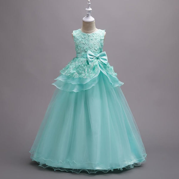 Elegant Children Princess Wedding Party Girl Ball Gown Formal Ceremony
