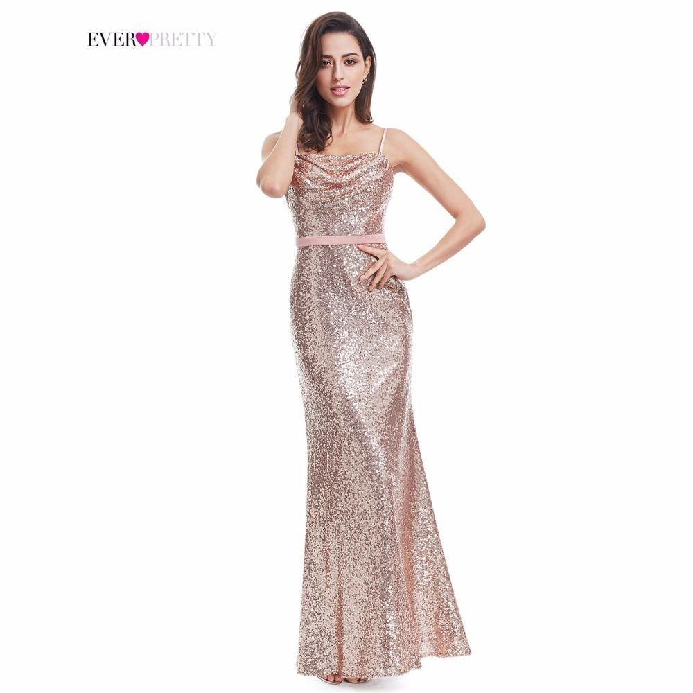 Sparkle Ever Pretty A Line Spaghetti Straps Floor Length Women Elegant Sequins Long Party Prom Gown