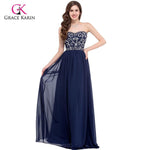 Royal Blue Dress Grace Karin Sweetheart Chiffon Elegant Evening Gowns