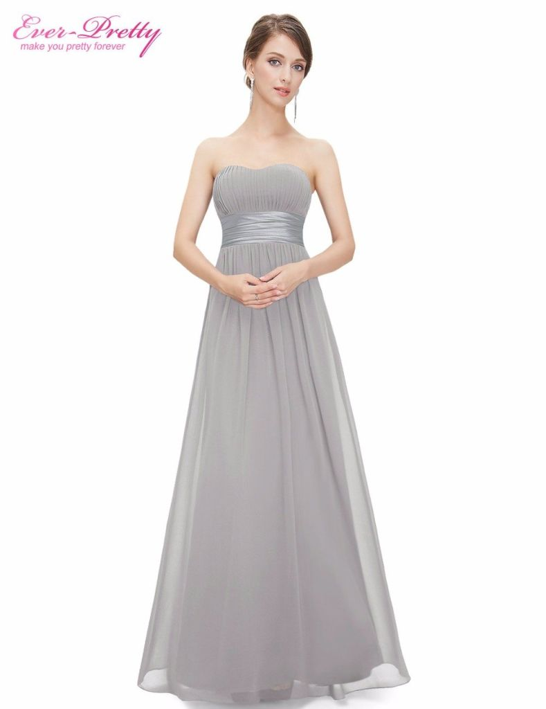 Prom Dresses Ever Pretty EP09955 Strapless Ruched Bust Blue Red Black