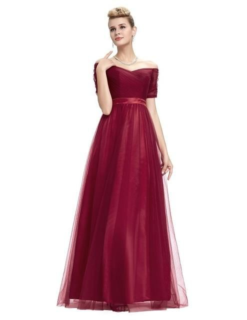 Burgundy Grace Karin Womens Long Elegant Lace Prom Dresses 2016 / 2 China