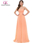 Grace Karin Elegant Orange Off The Shoulder Sweetheart Evening Dress