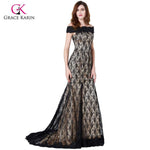 Grace Karin Mother Of The Bride Dresses For Wedding Party Boat Neck Lace Floor Length