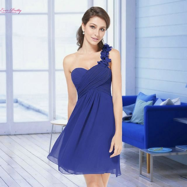 Helpful Bridesmaid Party Dresses One Shoulder Flowers Padded Ruffles Short Wedding 2018 Ep03535 Ever Pretty Bridesmaid Dresses Online Discount Bridesmaid Dresses
