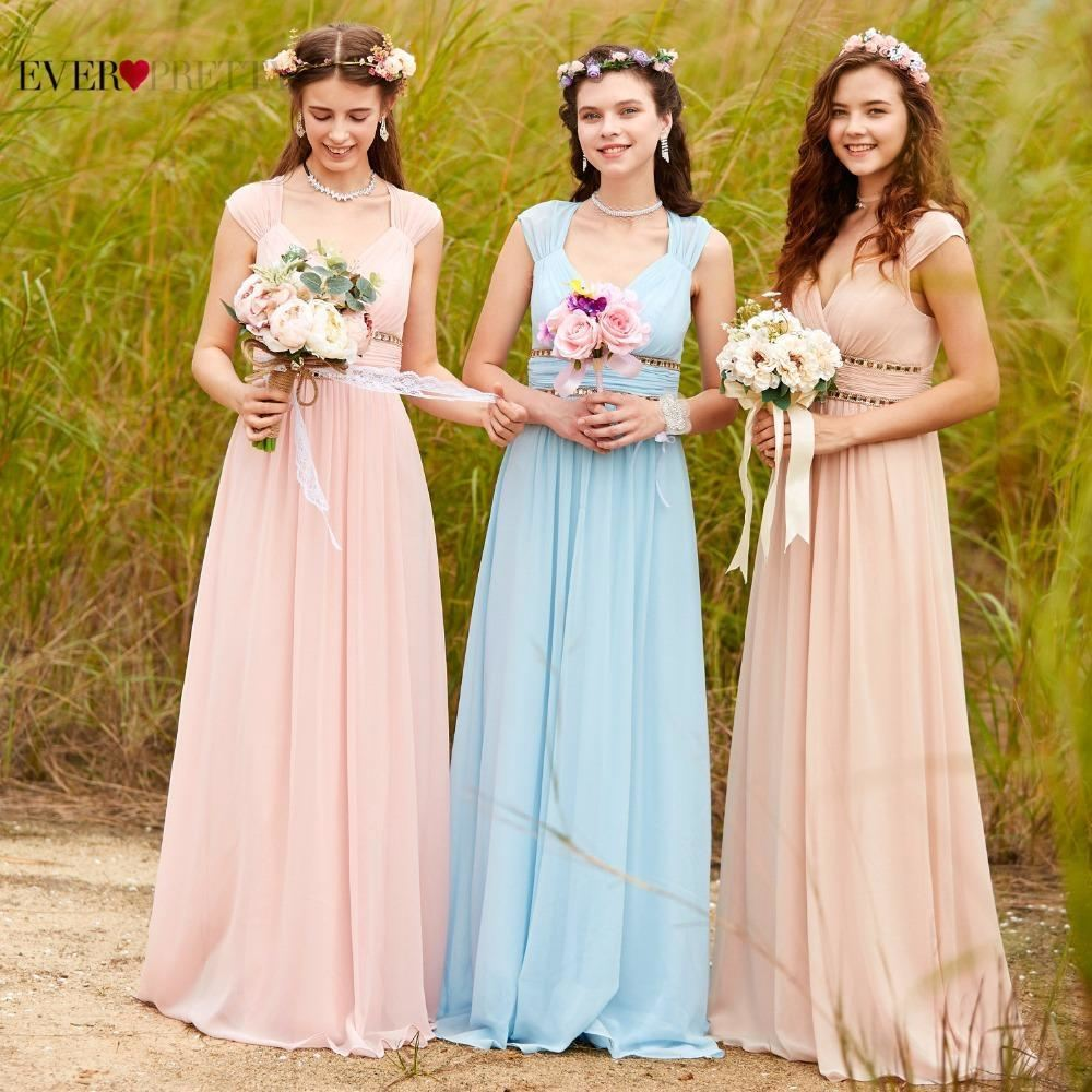 Ever Pretty V-Neck Long Bridesmaid Dress Evening Dresses