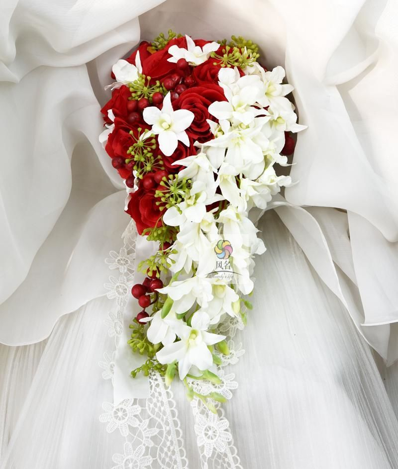 Waterfall Style Orchids Bridal Bouquet