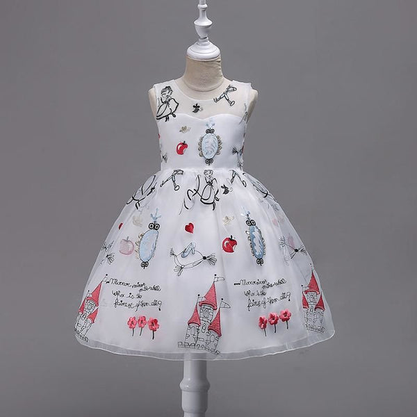 Flower Girl Dress For Wedding Girls Party Dress Baby Kids Clothes Chil