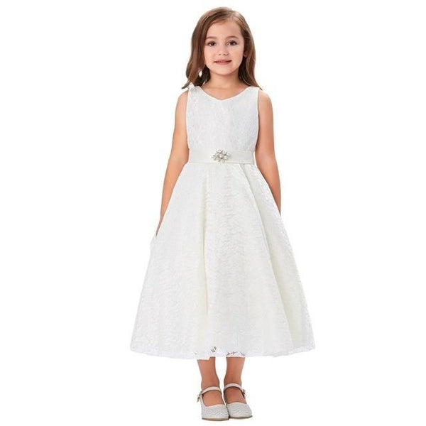 Flower Girl Dresses Lace Ball Gown Kids Wedding Party Dress
